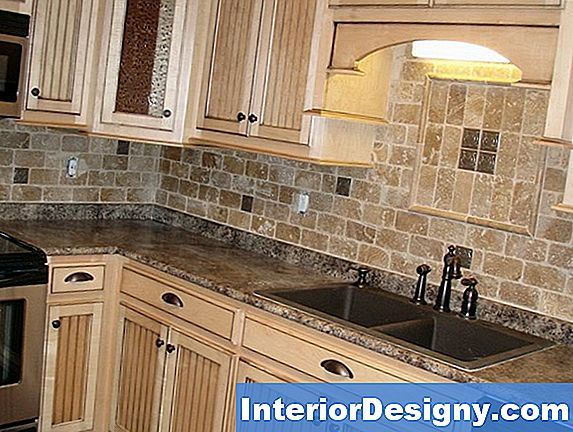 Tumbled Tile Backsplash Design Ideed