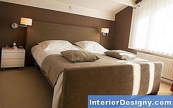 Huis kleuren voor het schilderen van een slaapkamer in gotische